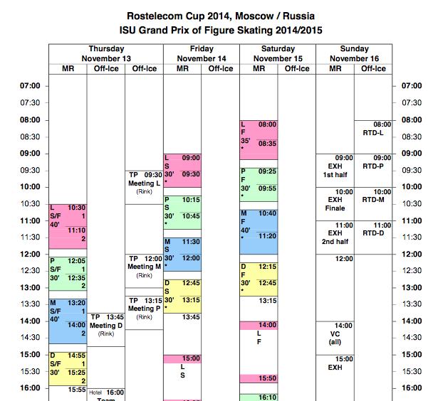 4 этап. ISU GP Rostelecom Cup 2014 14 - 16 Nov 2014 Moscow Russia-1-2 JZgPU