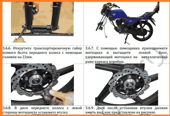 переднее колесо, фото установки