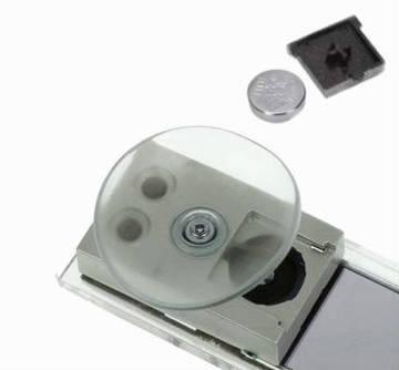 Тонкие Led часы и термометр на стекло авто Tinydeal