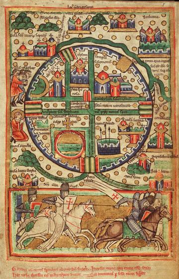 А это карта иерусалима того же